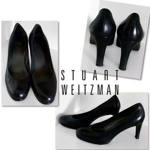 STUART WEITZMAN BLACK HEELS SHOES PUMPS SZ 9